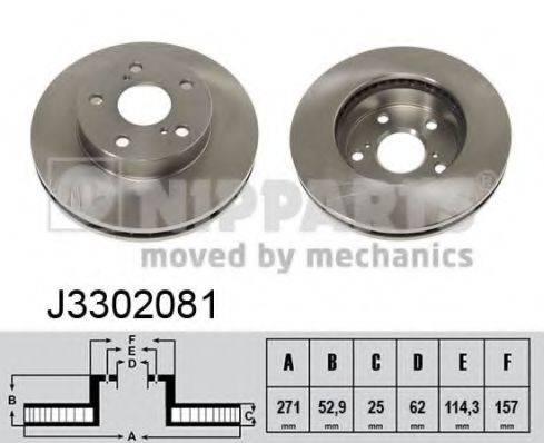Тормозной диск NIPPARTS J3302081