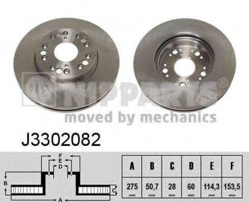 Тормозной диск NIPPARTS J3302082