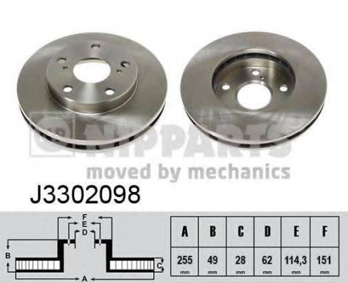 Тормозной диск NIPPARTS J3302098