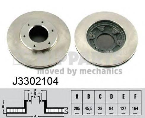 Тормозной диск NIPPARTS J3302104