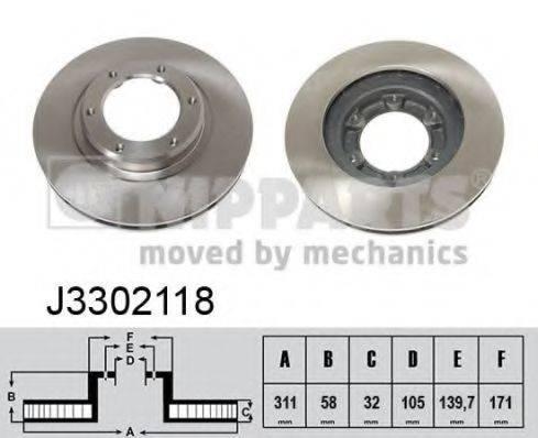 Тормозной диск NIPPARTS J3302118