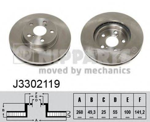 Тормозной диск NIPPARTS J3302119