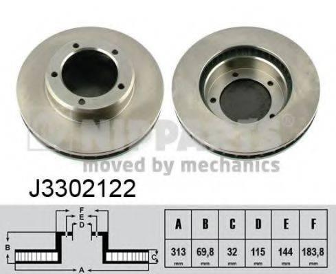 Тормозной диск NIPPARTS J3302122