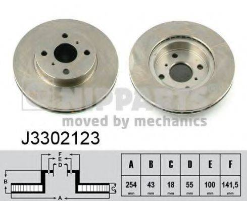 Тормозной диск NIPPARTS J3302123