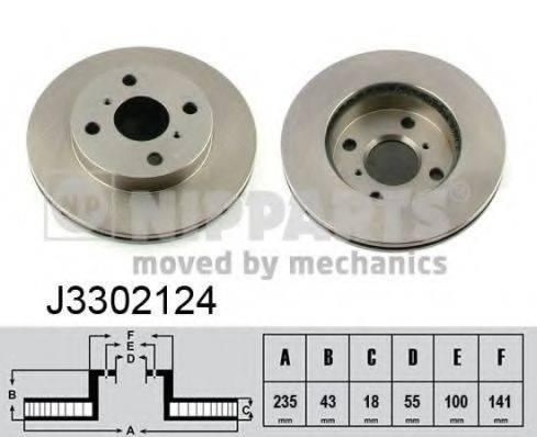 Тормозной диск NIPPARTS J3302124