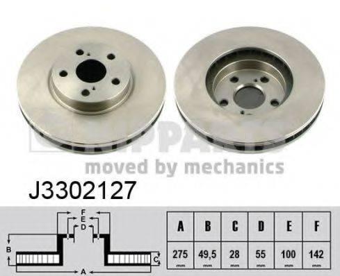 Тормозной диск NIPPARTS J3302127
