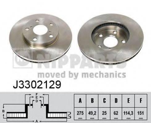 Тормозной диск NIPPARTS J3302129