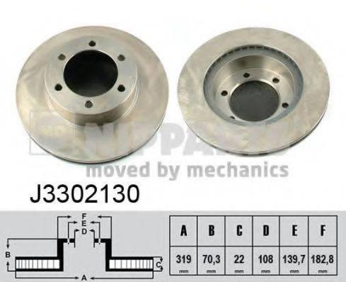 Тормозной диск NIPPARTS J3302130