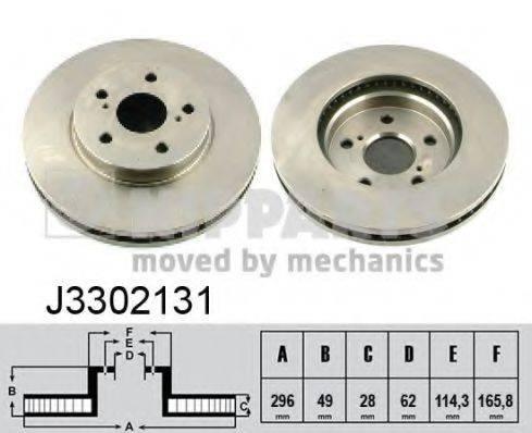 Тормозной диск NIPPARTS J3302131