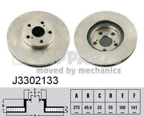Тормозной диск NIPPARTS J3302133