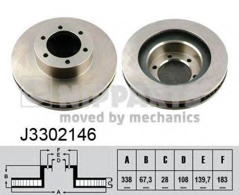 Тормозной диск NIPPARTS J3302146