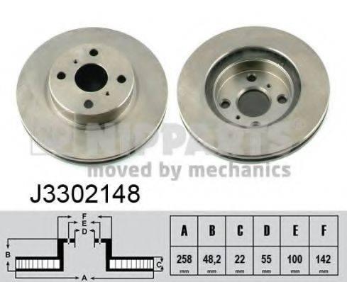 Тормозной диск NIPPARTS J3302148