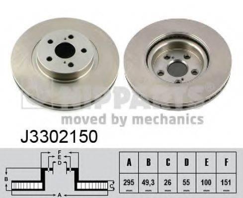 Тормозной диск NIPPARTS J3302150