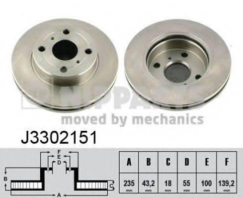 Тормозной диск NIPPARTS J3302151