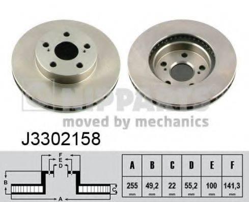 Тормозной диск NIPPARTS J3302158