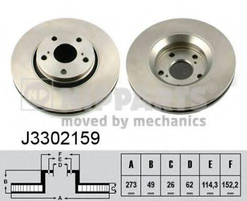 Тормозной диск NIPPARTS J3302159