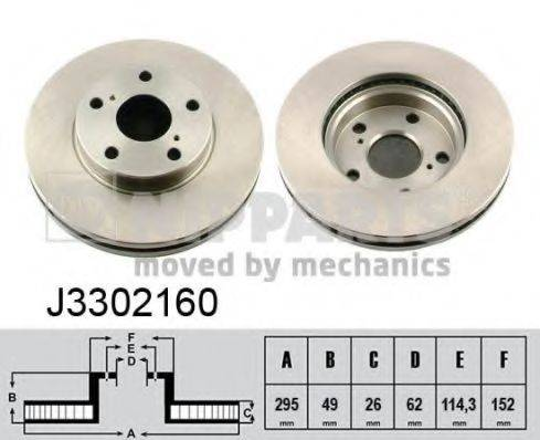 Тормозной диск NIPPARTS J3302160