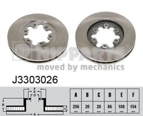 Тормозной диск NIPPARTS J3303026