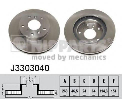 Тормозной диск NIPPARTS J3303040