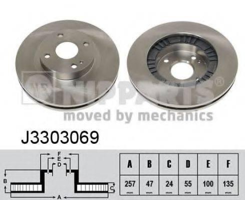 Тормозной диск NIPPARTS J3303069