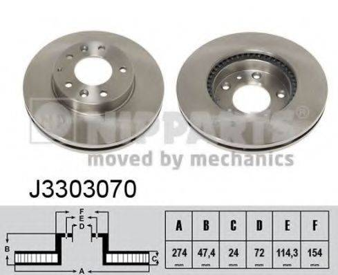 Тормозной диск NIPPARTS J3303070