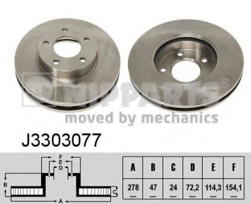 Тормозной диск NIPPARTS J3303077