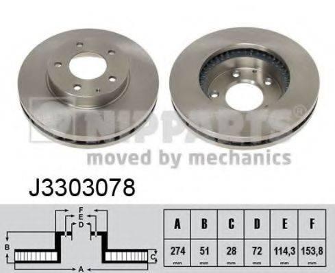 Тормозной диск NIPPARTS J3303078