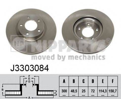 Тормозной диск NIPPARTS J3303084
