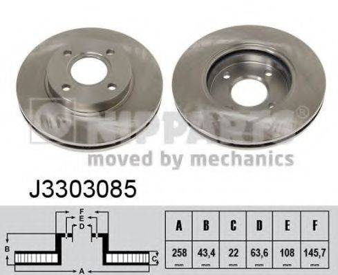Тормозной диск NIPPARTS J3303085