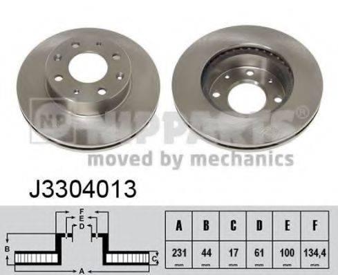 Тормозной диск NIPPARTS J3304013