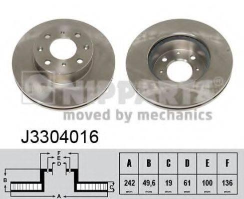 Тормозной диск NIPPARTS J3304016