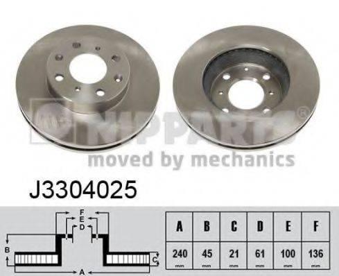 Тормозной диск NIPPARTS J3304025