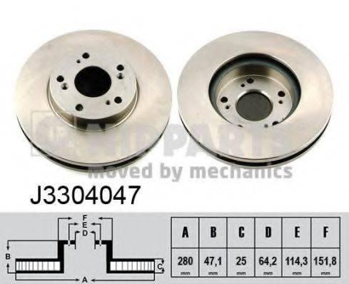 Тормозной диск NIPPARTS J3304047