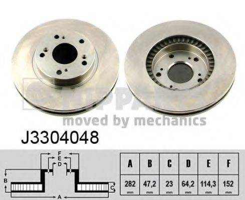 Тормозной диск NIPPARTS J3304048