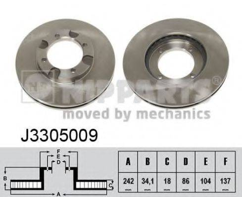 Тормозной диск NIPPARTS J3305009