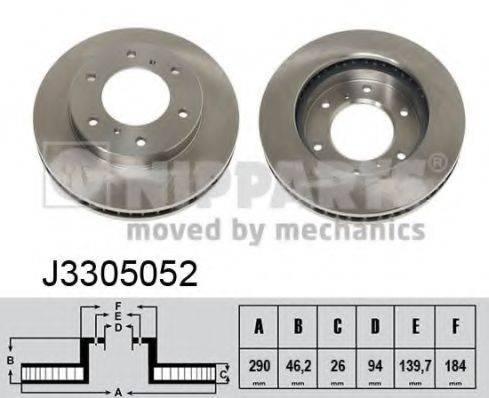 Тормозной диск NIPPARTS J3305052