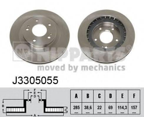 Тормозной диск NIPPARTS J3305055