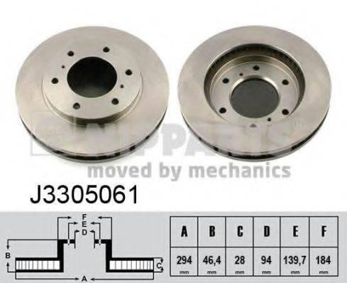 Тормозной диск NIPPARTS J3305061