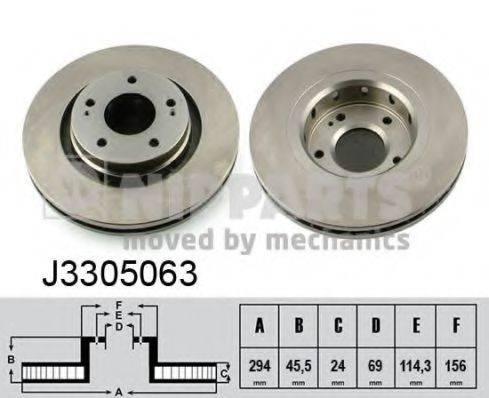 Тормозной диск NIPPARTS J3305063