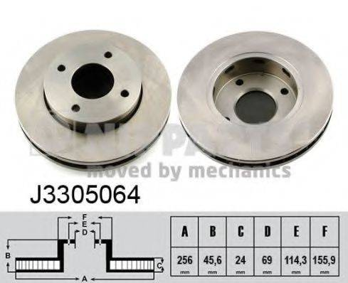 Тормозной диск NIPPARTS J3305064