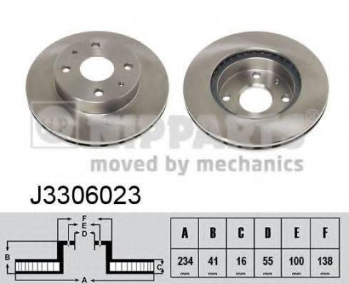 Тормозной диск NIPPARTS J3306023
