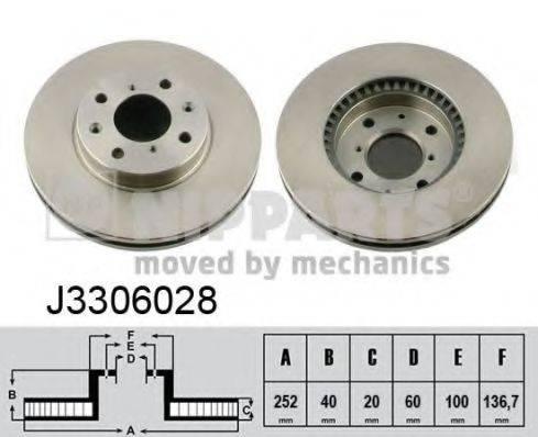Тормозной диск NIPPARTS J3306028