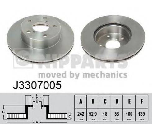 Тормозной диск NIPPARTS J3307005