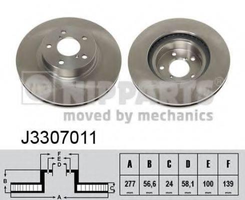 Тормозной диск NIPPARTS J3307011