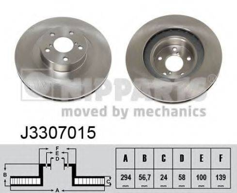 Тормозной диск NIPPARTS J3307015