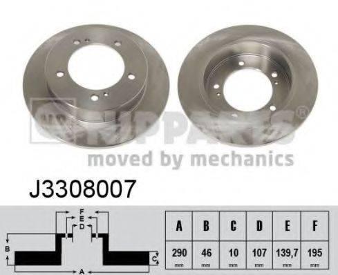 Тормозной диск NIPPARTS J3308007
