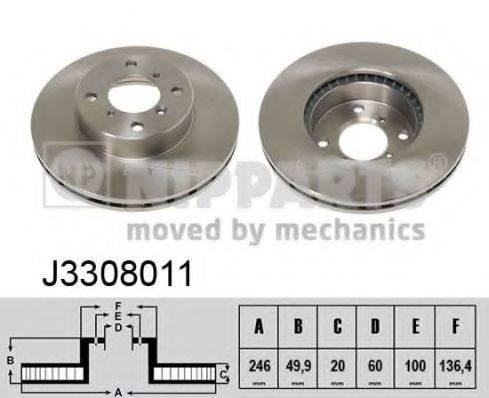 Тормозной диск NIPPARTS J3308011
