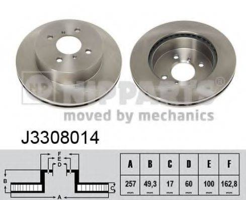 Тормозной диск NIPPARTS J3308014