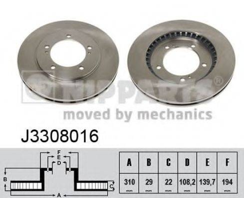 Тормозной диск NIPPARTS J3308016