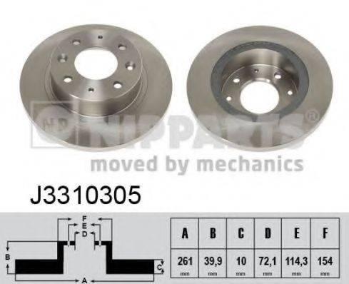 Тормозной диск NIPPARTS J3310305